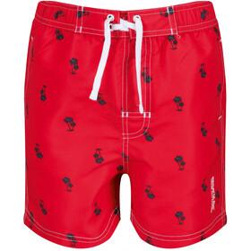 Regatta Skander II Shorts Niños, true red palm print
